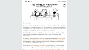 Penguin Valentines Newsletter