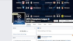 The official UEFA Champions League Facebook page