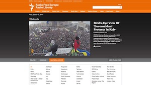 "Birds-eye View of ""Euromaidan"" Protests in Kyiv"